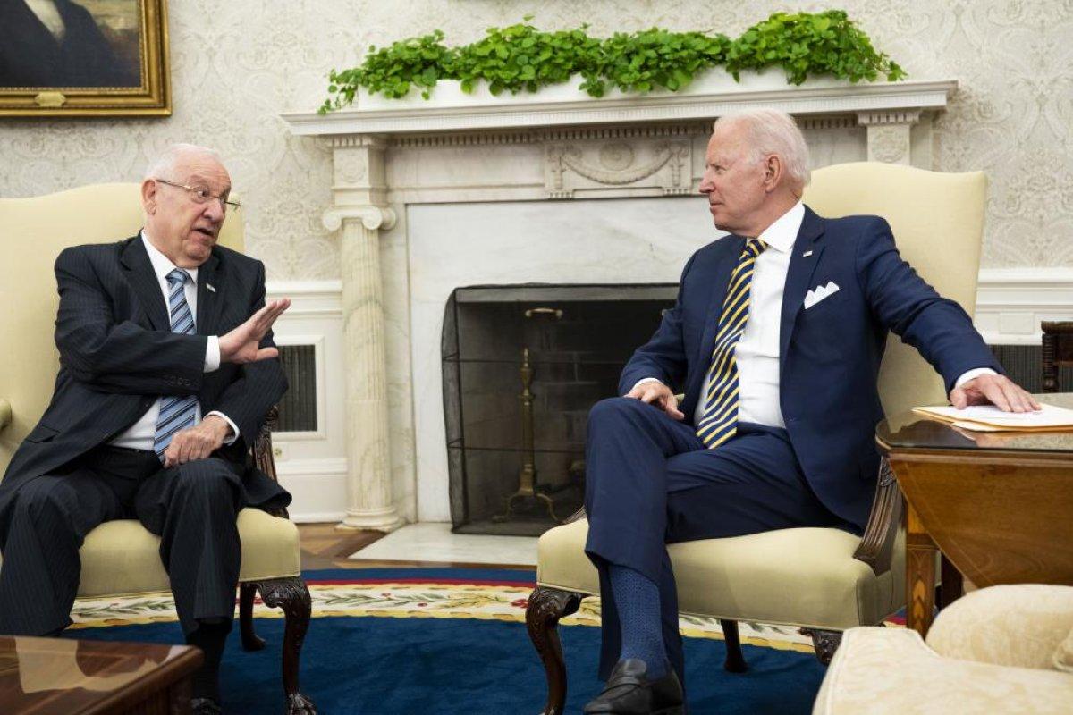 Joe Biden, İsrail Cumhurbaşkanı Rivlin ile görüştü #7