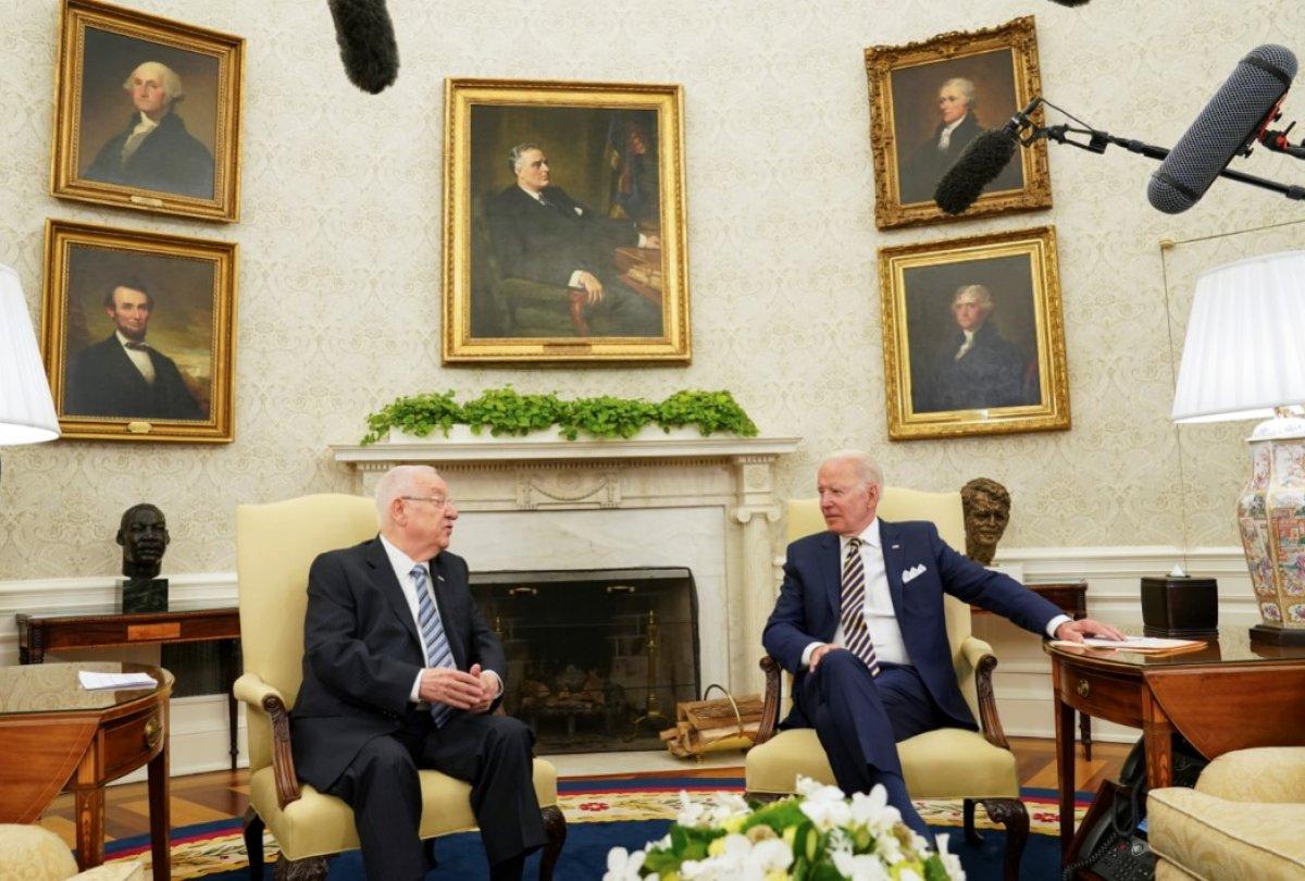 Joe Biden, İsrail Cumhurbaşkanı Rivlin ile görüştü #4