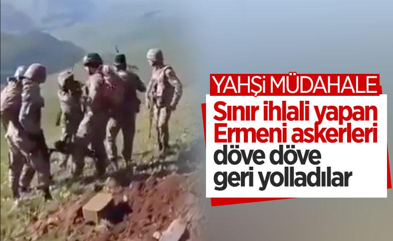 Azerbaycan askerleri, sınır ihlali yapan Ermeni askerleri dövdü