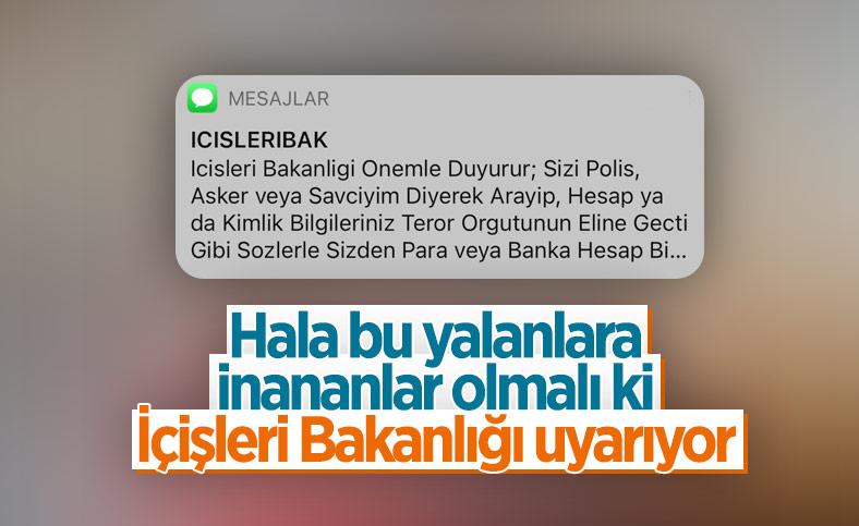 Kendisini polis/savcı gibi gösteren dolandırıcılara karşı İçişleri Bakanlığı'nın uyarısı