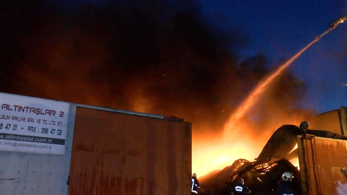 Ankara da atık dönüşüm tesisinde yangın #2