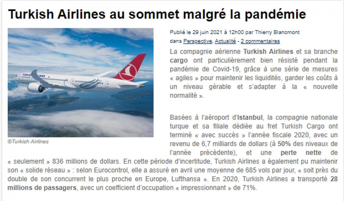 Türk Hava Yolları pandemiye rağmen zirvede #1