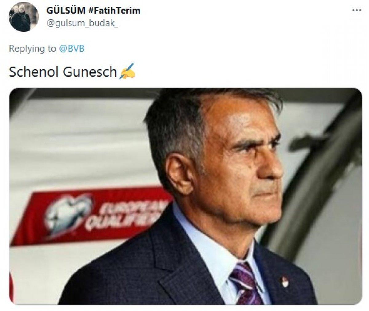 Dortmund un paylaşımı Şenol Güneş e benzetildi #3