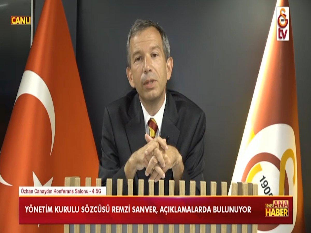 Galatasaray Yönetim Kurulu Sözcüsü Sanver: Taylan ın yanındayız #1