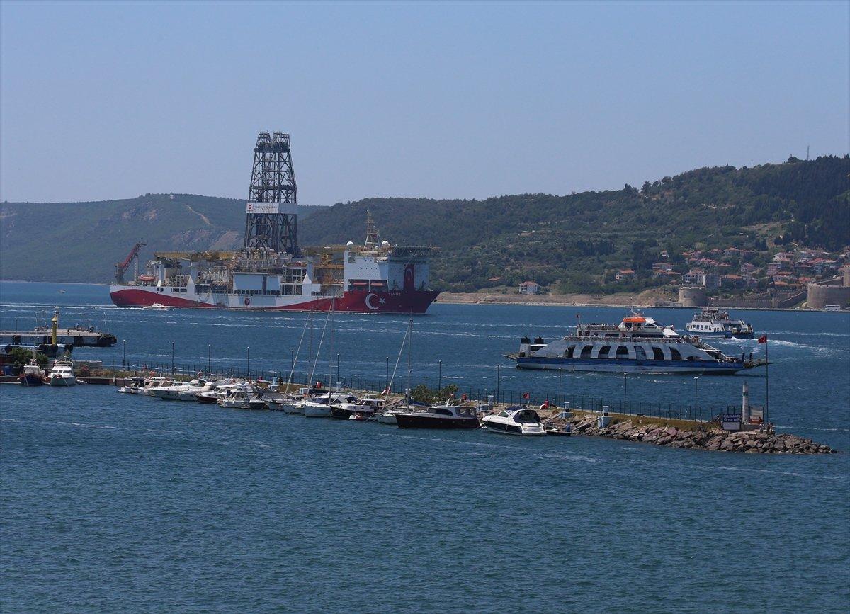 'Yavuz' sondaj gemisi Çanakkale Boğazı ndan geçti #3