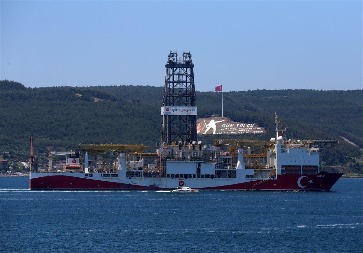 'Yavuz' sondaj gemisi Çanakkale Boğazı ndan geçti #2