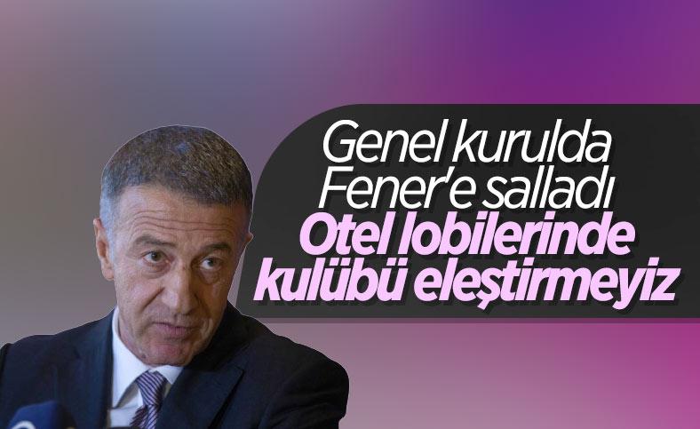 Ahmet Ağaoğlu'ndan Fenerbahçe'ye gönderme