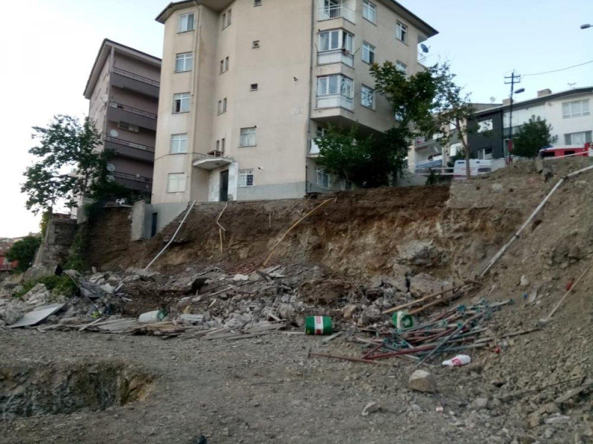 Ankara'da bir binanın temeli kaydı: 5 bina boşaltıldı #2