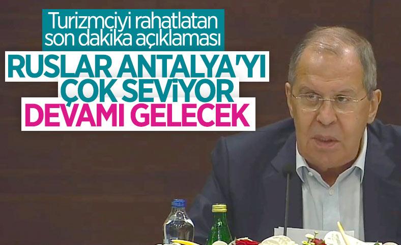 Rusya Dışişleri Bakanı Lavrov'dan Antalyalı turizmcileri sevindiren haber