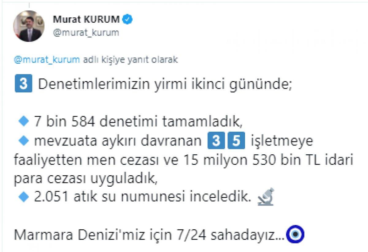 Murat Kurum: 22 günde 8 bin 867 metreküp müsilaj temizlendi #6