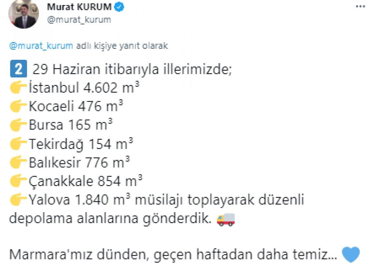 Murat Kurum: 22 günde 8 bin 867 metreküp müsilaj temizlendi #5