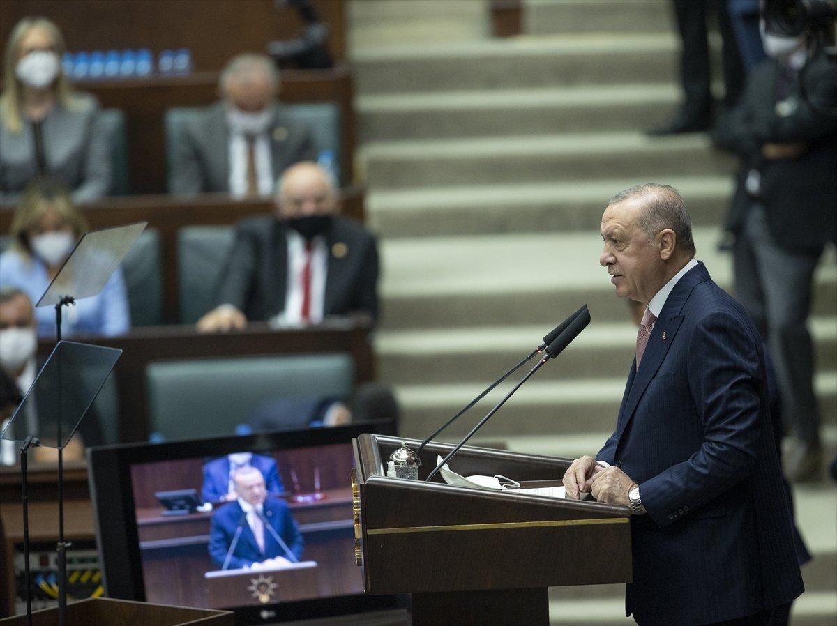Cumhurbaşkanı Erdoğan ın grup toplantısında izlettiği video: CHP nin karşı çıktığı projeler #1
