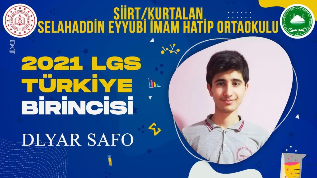 Suriyeli öğrenci LGS 2021 de Türkiye birincisi oldu #1