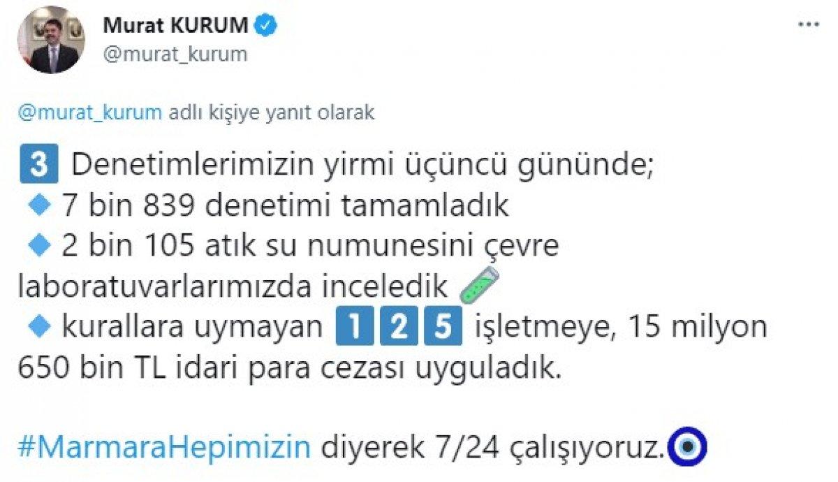 Murat Kurum: 9 bin 394 metreküp müsilaj temizlendi #3