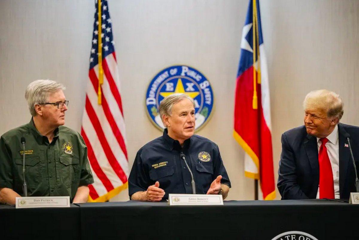 Donald Trump, Teksas'ta durdurulan sınır duvarı inşaatında konuştu #1