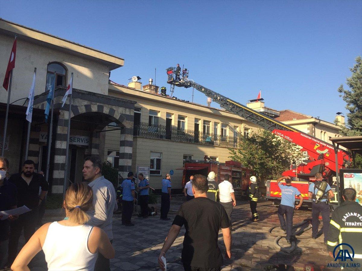 Gaziantep te özel bir hastanede yangın çıktı #2