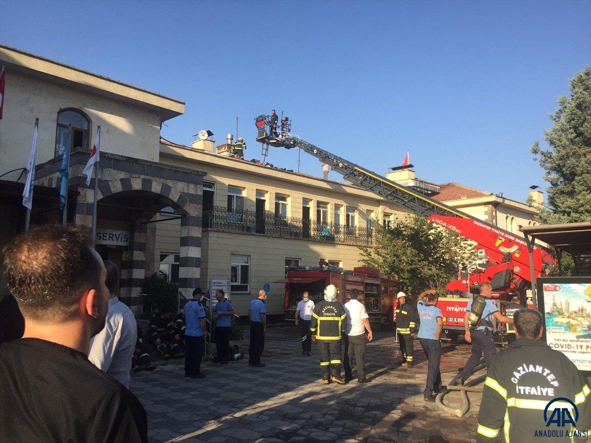 Gaziantep te özel bir hastanede yangın çıktı #3