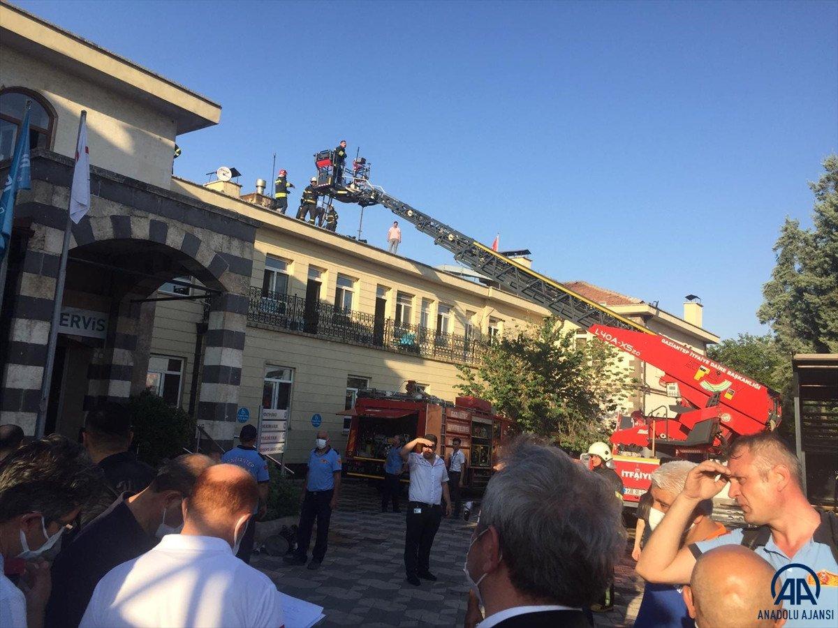 Gaziantep te özel bir hastanede yangın çıktı #1