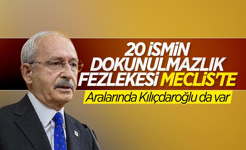 Kemal Kılıçdaroğlu'nun dokunulmazlık fezlekesi Meclis'te