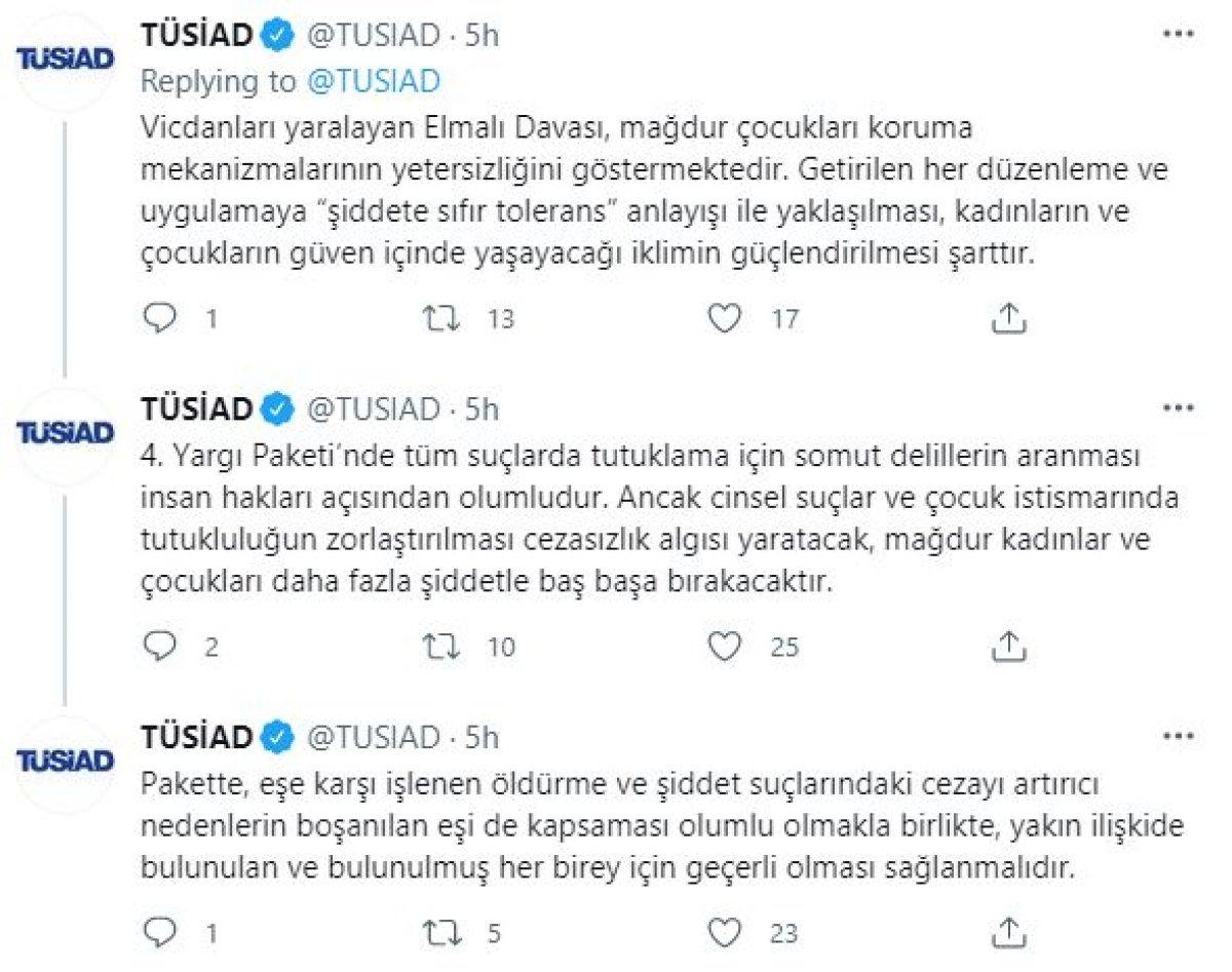 TÜSİAD: İstanbul Sözleşmesi ne geri dönülsün #3