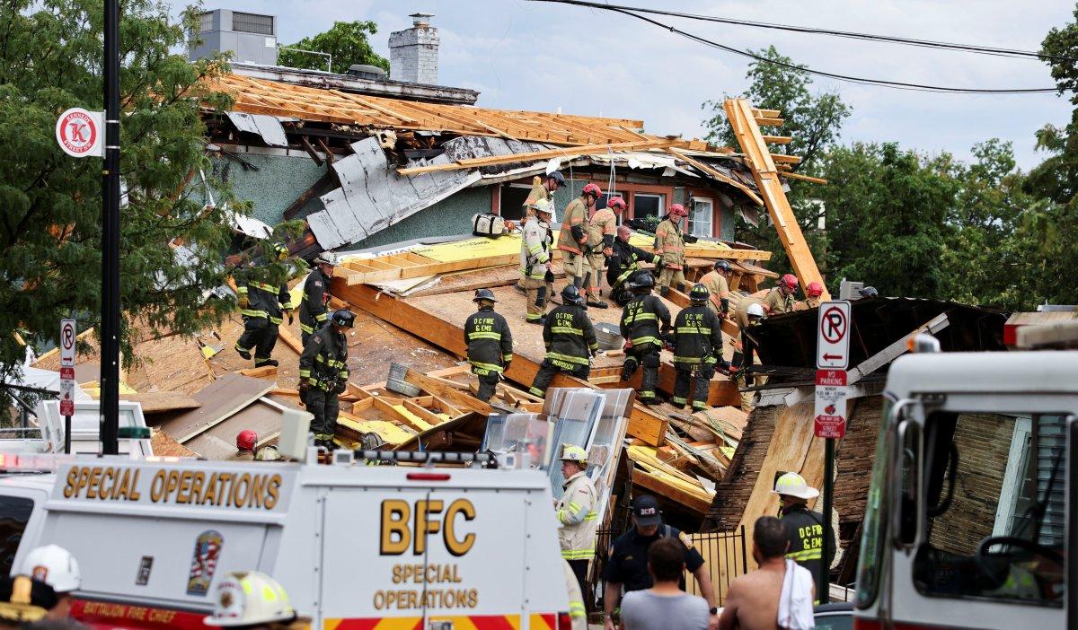 ABD de inşaat halindeki bina çöktü: Çok sayıda yaralı var #1
