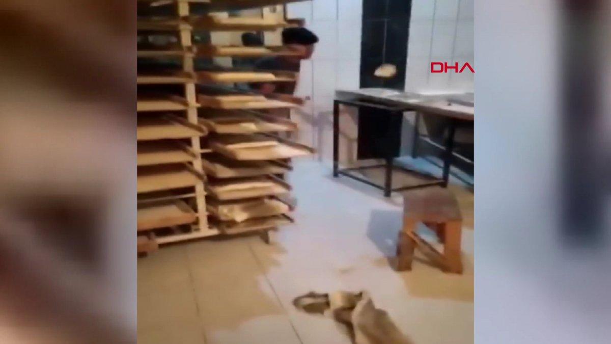 Van da ekmek hamuruyla top gibi oynayan fırın çalışanı serbest bırakıldı #5