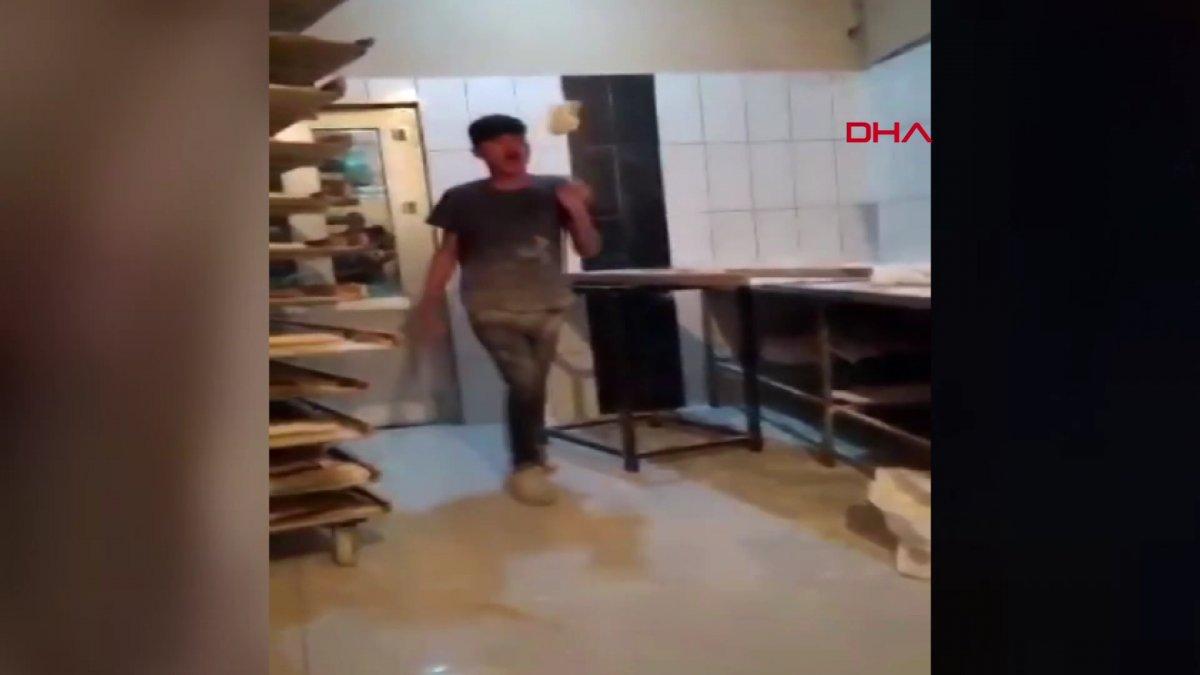 Van da ekmek hamuruyla top gibi oynayan fırın çalışanı serbest bırakıldı #6
