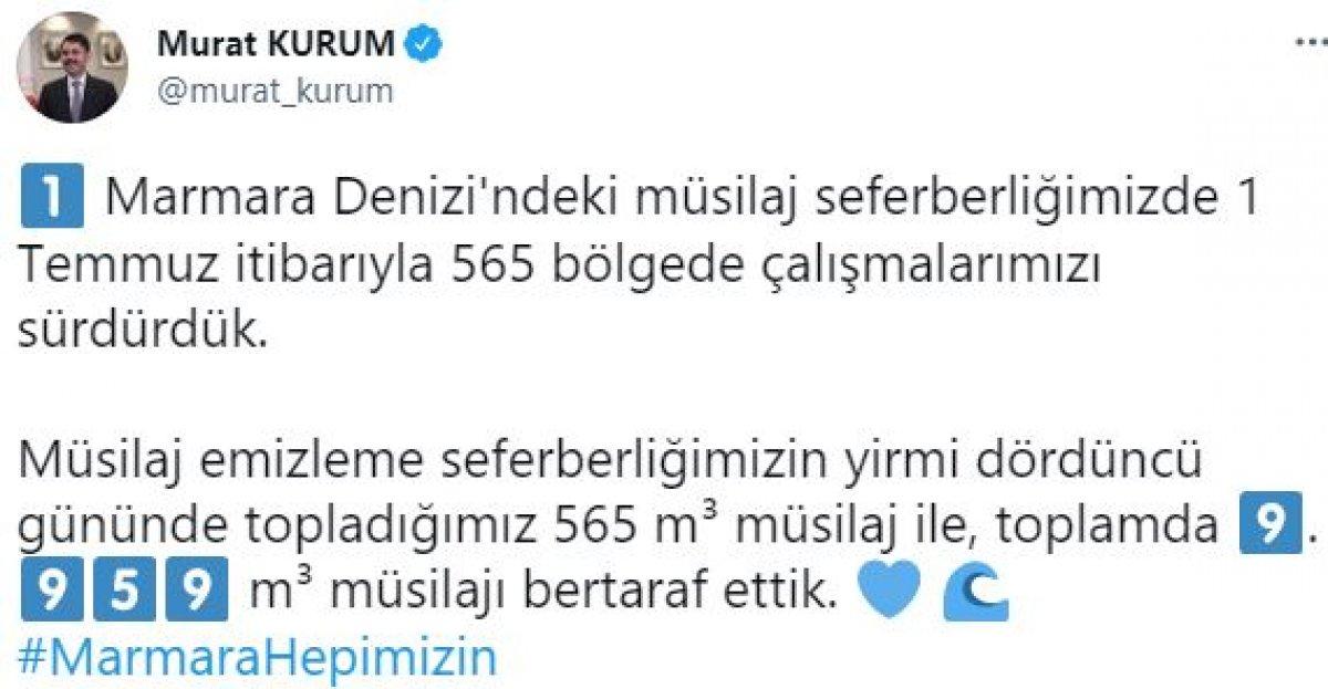 Murat Kurum: 9 bin 959 metreküp müsilajı bertaraf ettik #5