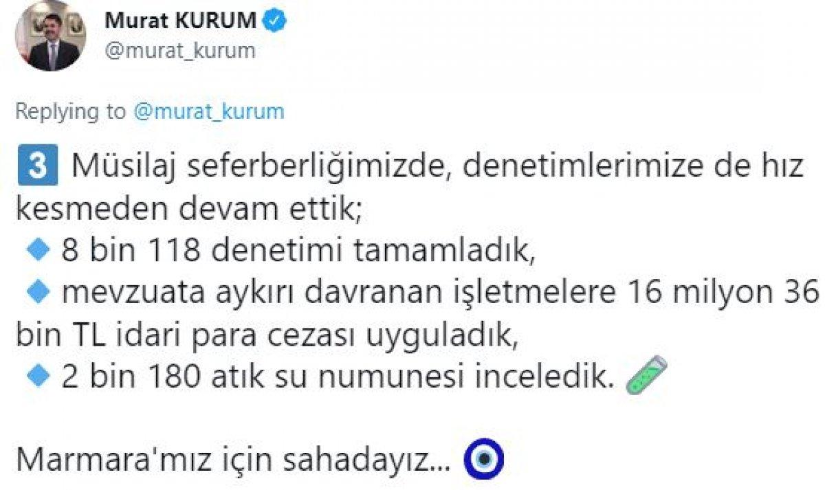 Murat Kurum: 9 bin 959 metreküp müsilajı bertaraf ettik #7