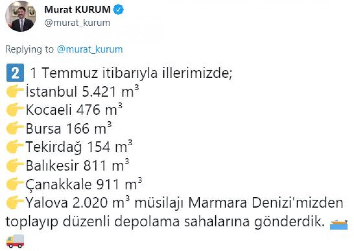 Murat Kurum: 9 bin 959 metreküp müsilajı bertaraf ettik #6