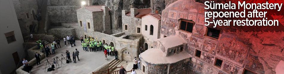 Sümela Manastırı büyük restorasyonun ardından ziyarete açıldı