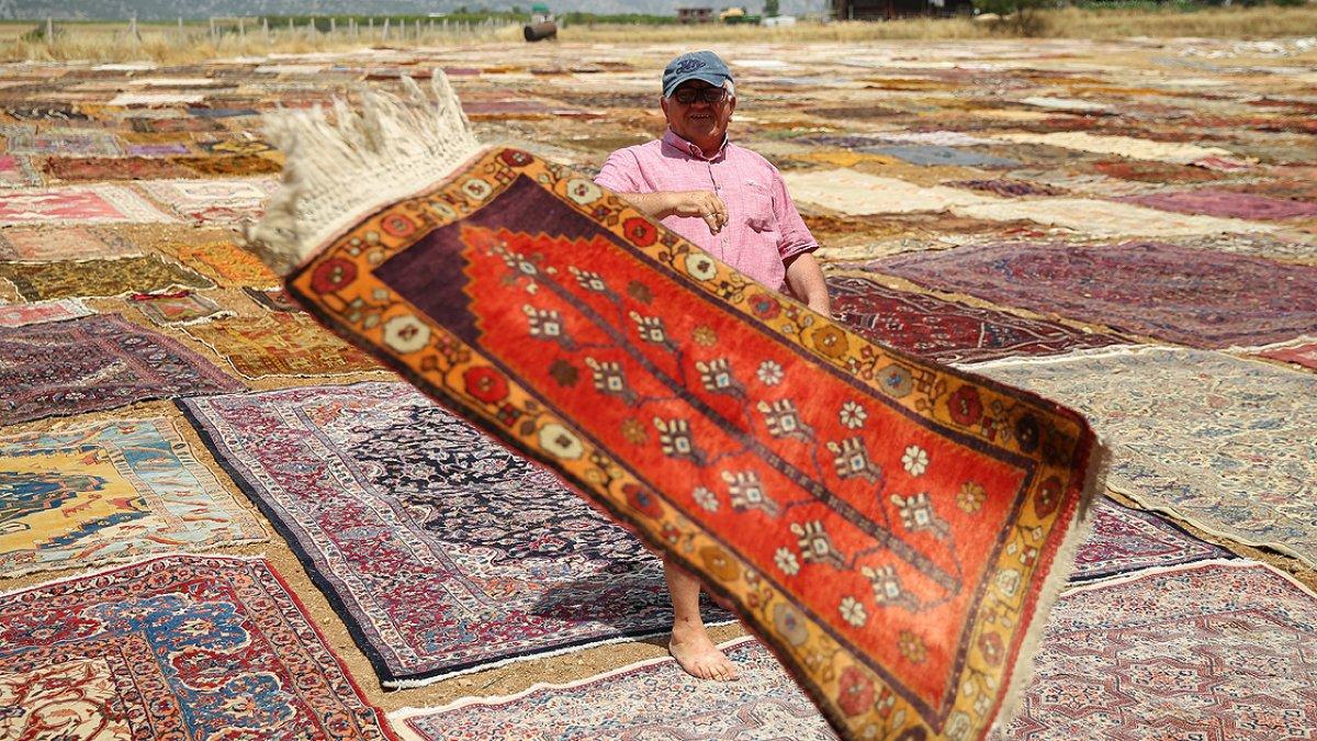 Antalya nın  halı tarlaları  yeniden renklendi #3