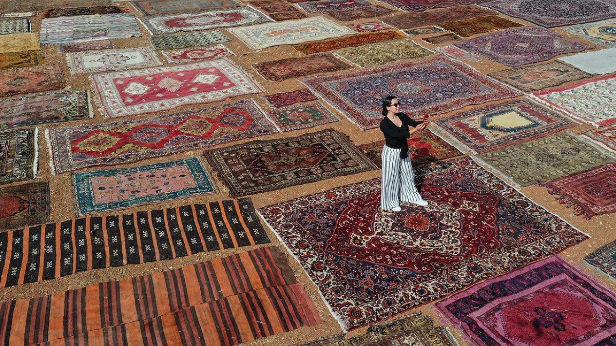 Antalya nın  halı tarlaları  yeniden renklendi #2