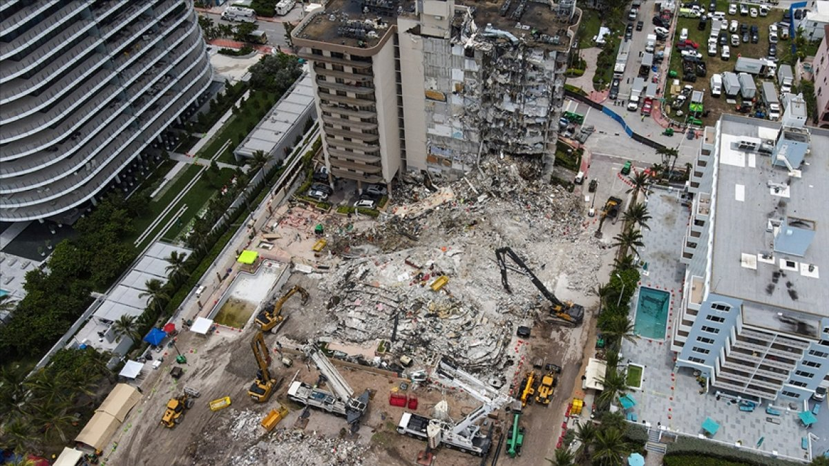 Miami de kısmen çöken 13 katlı binanın tamamı yıkılacak #1