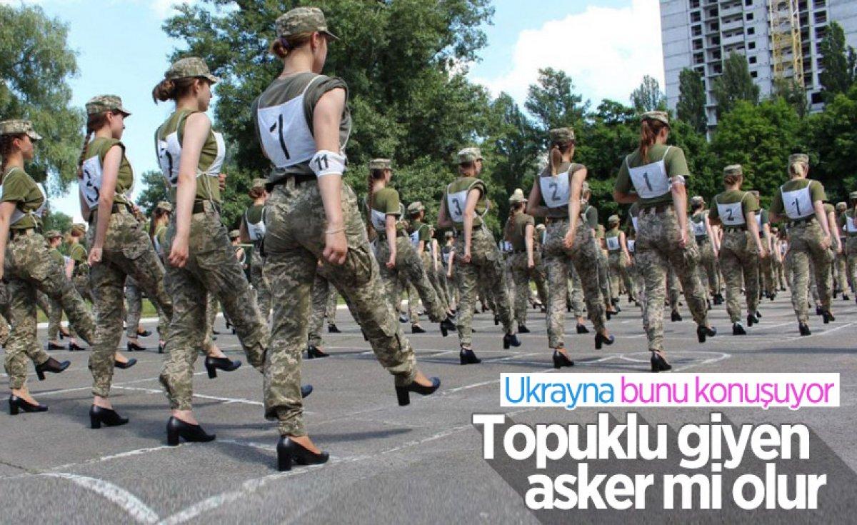 Ukrayna'da kadın milletvekillerinden savunma bakanına topuklu ayakkabı hediyesi  #3