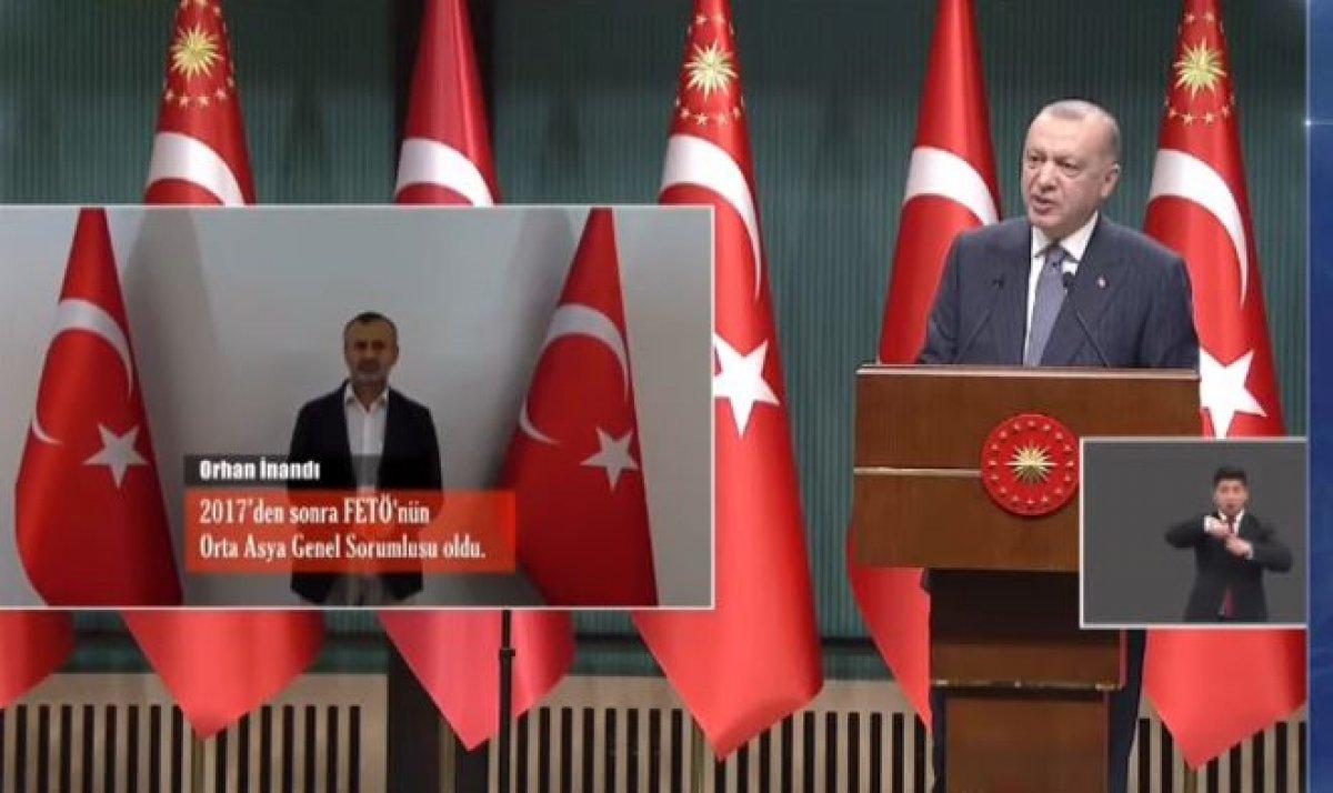 Cumhurbaşkanı Erdoğan, yakalanan üst düzey FETÖ mensubunu duyurdu #2