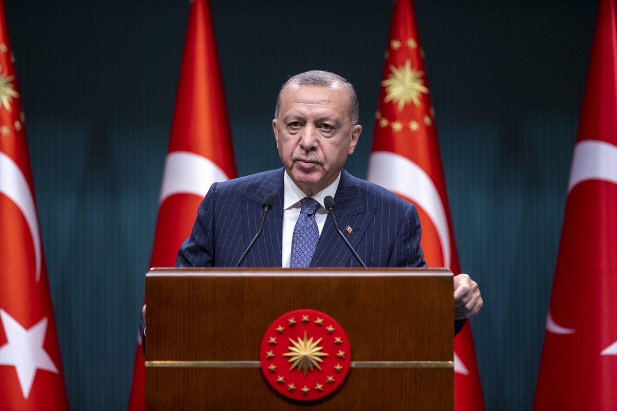Cumhurbaşkanı Erdoğan dan Kabine toplantısı sonrası açıklama #1