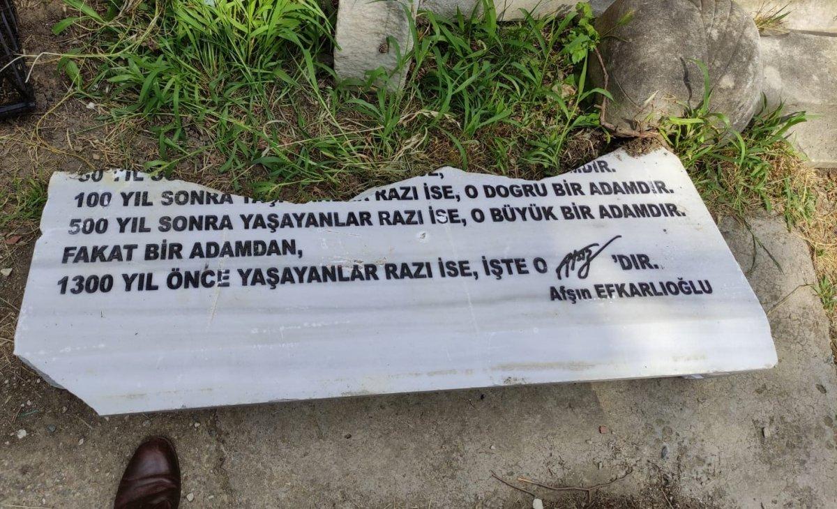 Hüseyin Nihal Atsız'ın mezarına saldırı #2
