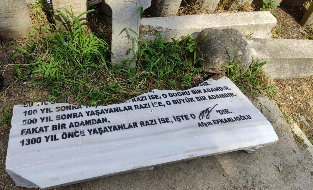 Hüseyin Nihal Atsız'ın mezarına saldırı #1