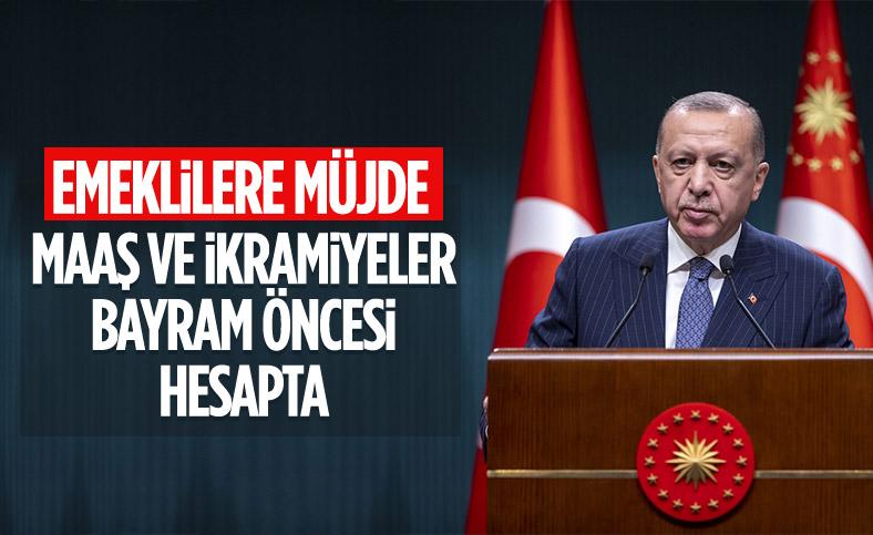Cumhurbaşkanı Erdoğan'dan emeklilere maaş ve ikramiye müjdesi