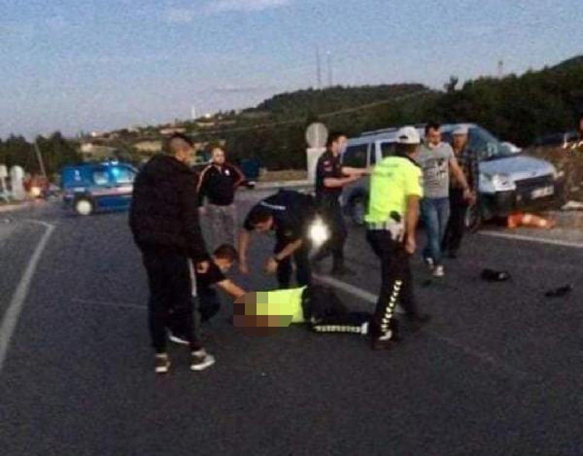 Kütahya da, polis memuru aracın çarpması sonucu şehit oldu #1