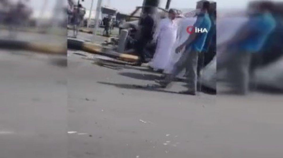 Suudi Arabistan'da tır araçları biçti #2