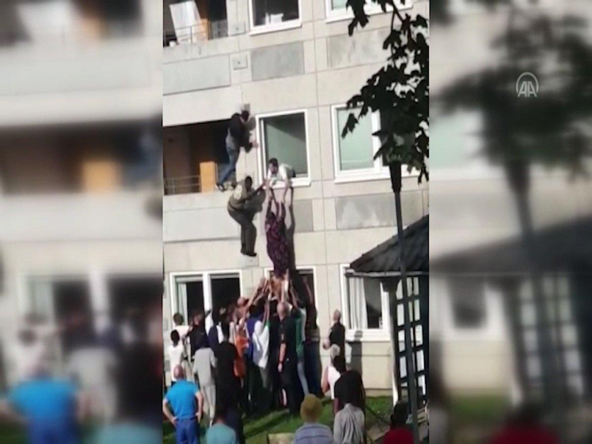 İsveç te komşusunu yangından kurtardı,  kahraman  ilan edildi #2