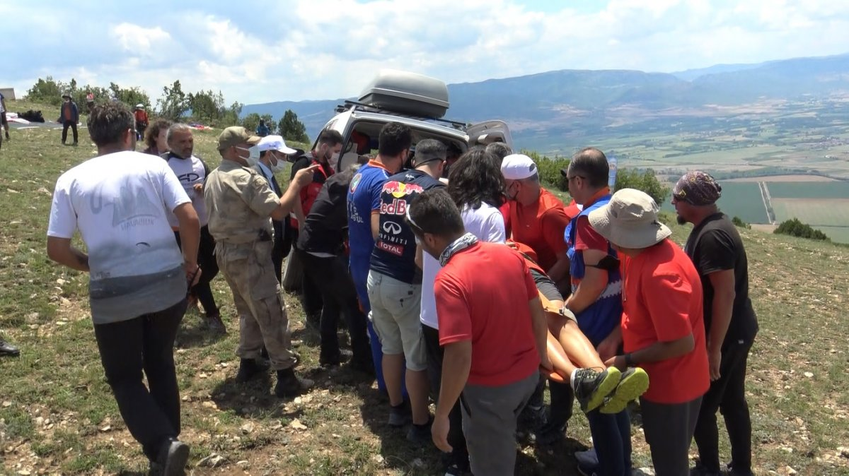 Tokat ta paraşüt kazası: Kolunu kırdı #4