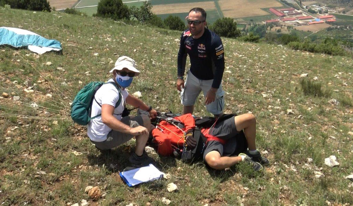 Tokat ta paraşüt kazası: Kolunu kırdı #3