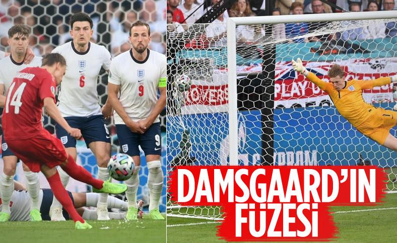 Danimarkalı Mikkel Damsgaard'dan İngiltere'ye harika frikik golü