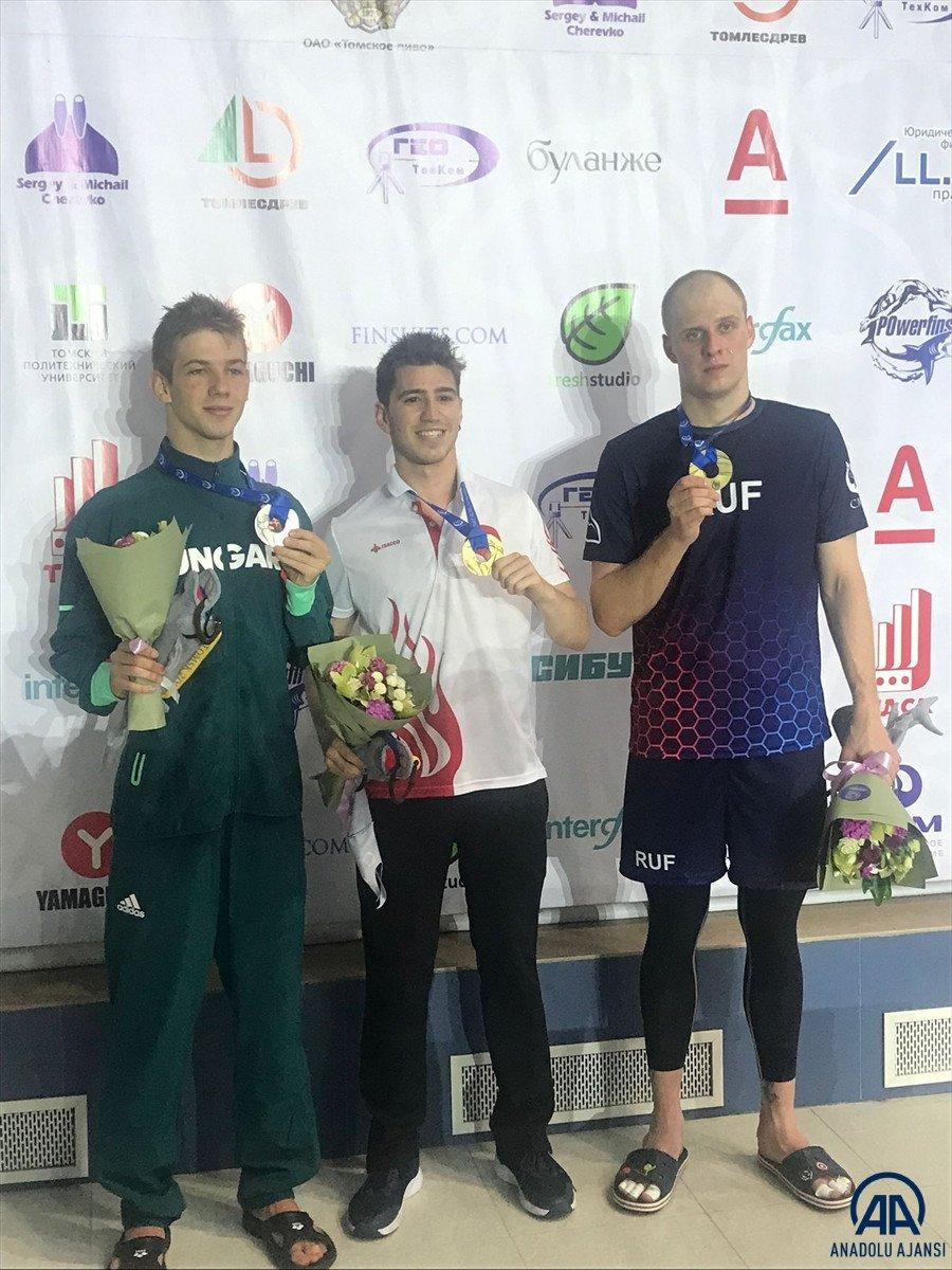 Milli yüzücü Derin Toparlak Rusya da Dünya Şampiyonu oldu #3