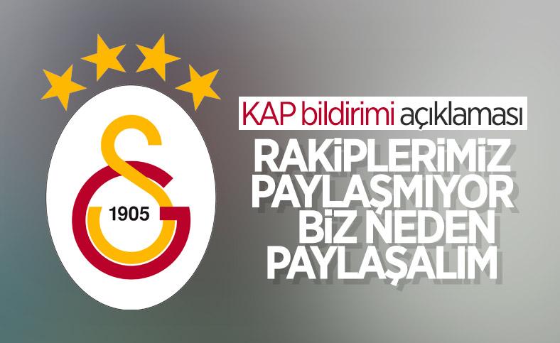 Galatasaray'dan KAP bildirimi açıklaması