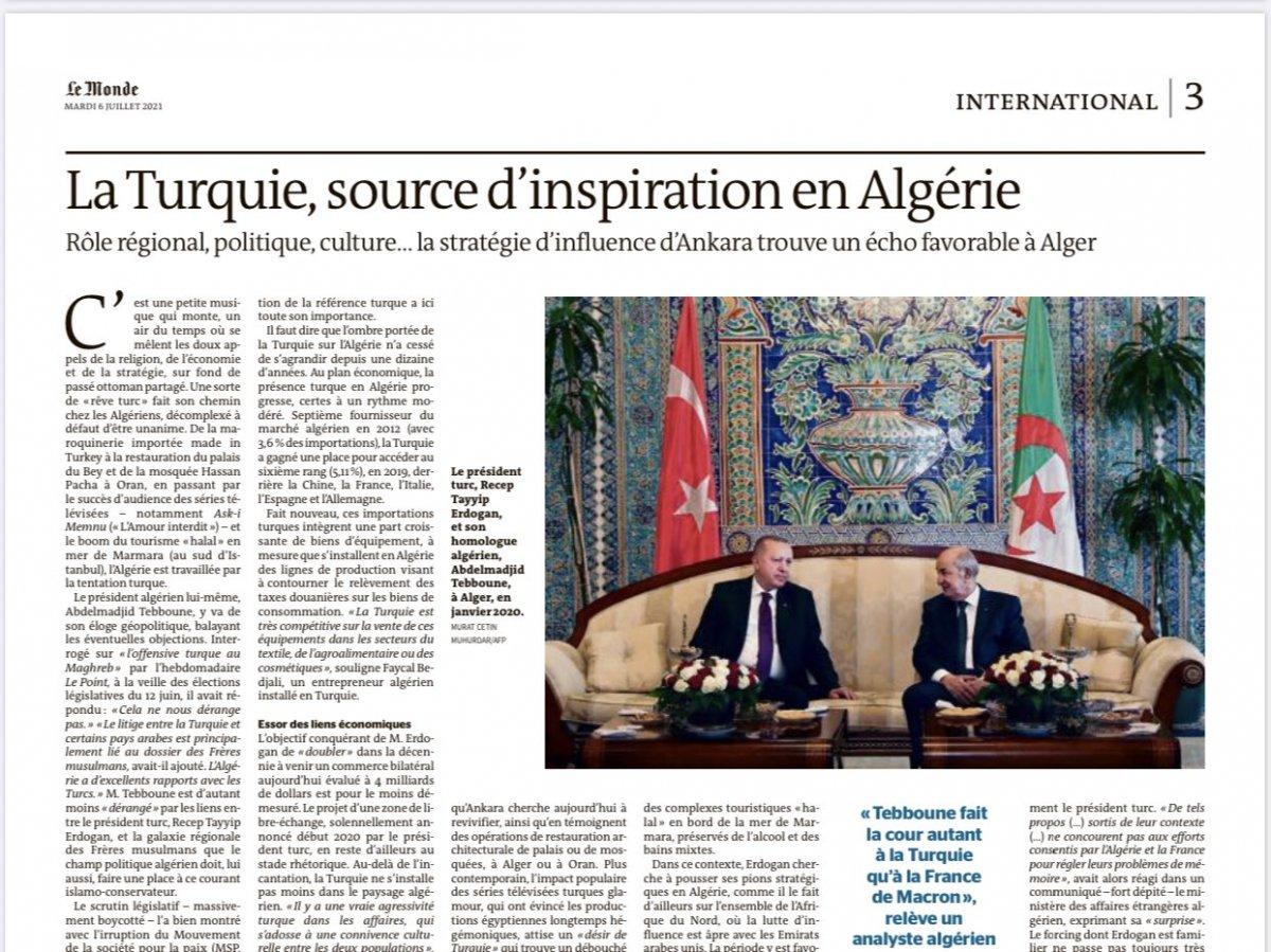 Fransız basını: Türkiye, Cezayir de ilham kaynağı #1
