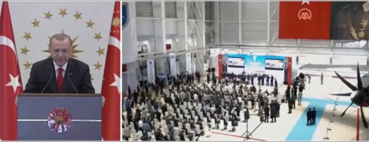 Cumhurbaşkanı Erdoğan, A400M uçakları bakım tesisleri açılışına katıldı #2